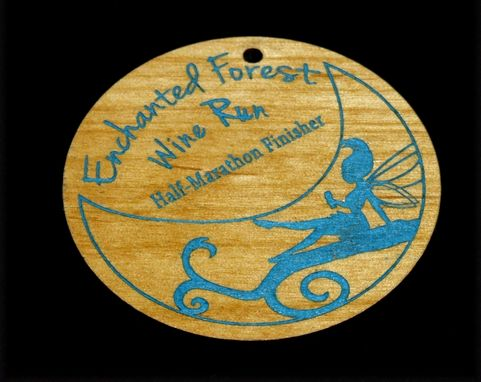 Custom Made Wooden Pendants - Laser Engraved And Colored
