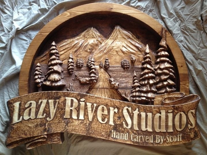 Hand Made Custom Made Wooden Signs Hand Carved By Scott