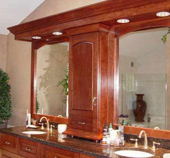 Custom Made Solid Cherry Custom Master Bathroom Vanity