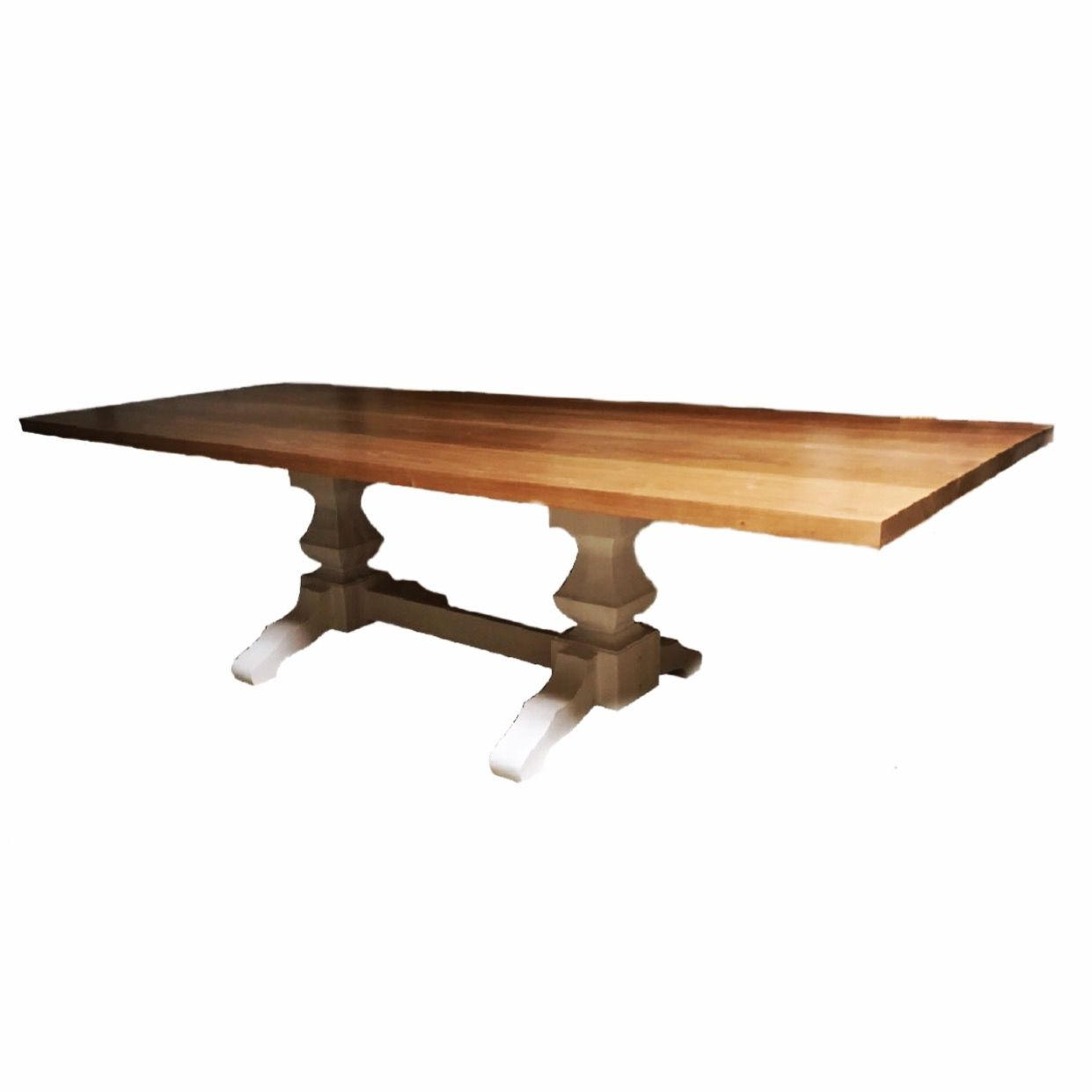 Custom Kitchen Tables: Hand Crafted Custom Designed Cherry Top Pedestal Dining