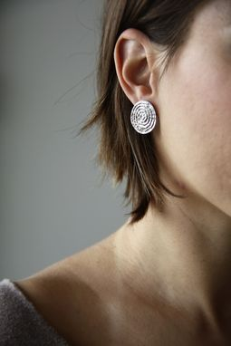 Custom Made Farah Earrings- Hammered Disc - Wedding