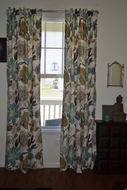 Custom Made Custom Curtains, Large Floral Pattern Gorgeous - Pearl