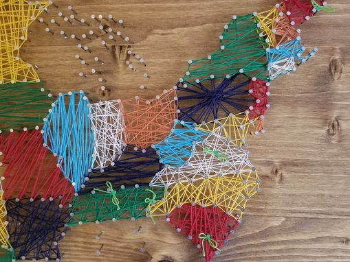Custom Made United States Map In String Art