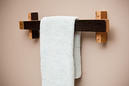 Custom Made Towel Racks --Banded Barrel Stave
