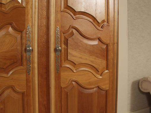 Custom Made Cherry French Armoire