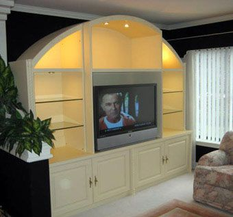 Custom Made Arched Entertainment Unit