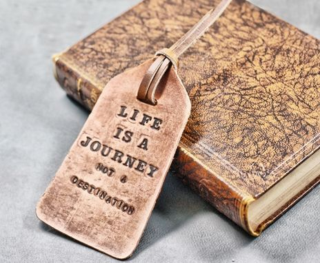 Custom Made Leather Bookmark Fob Tag – Emerson Quote
