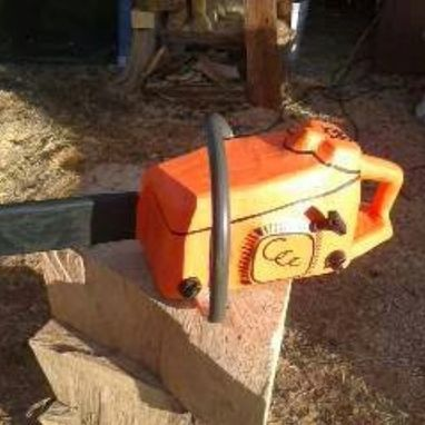 Custom Made Chainsaw Carving Of A Chainsaw