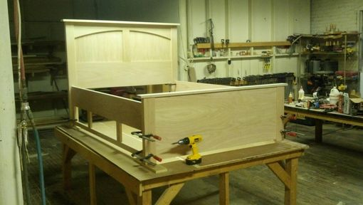 Custom Made Custom Oak Storage Bed