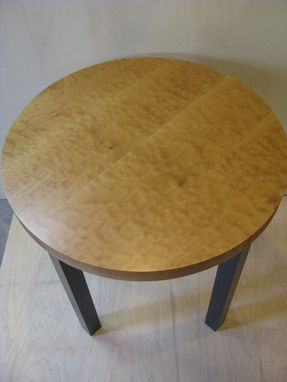 Custom Made Curly Maple Bistro Table