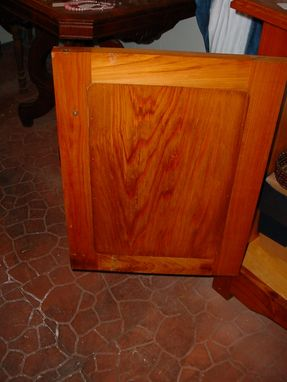 Custom Made Louisiana Cypress Step Back Bookcase Display Cabinet