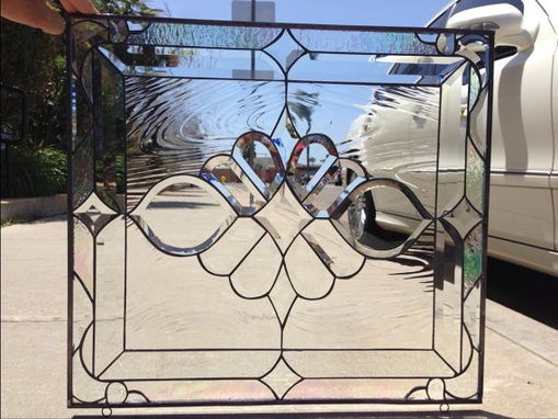 Custom Made Magnificent Victorian Beveled Cluster Stained Glass Window
