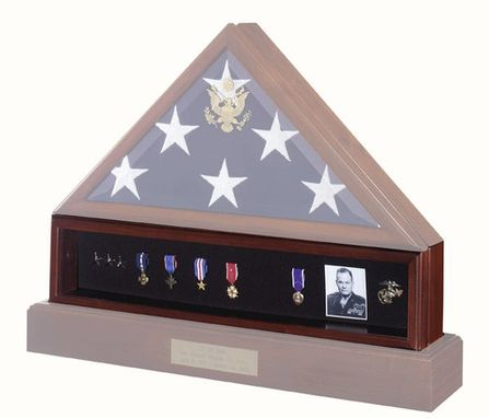 Custom Made Medal Display Case , Pedestal , Medal Holder
