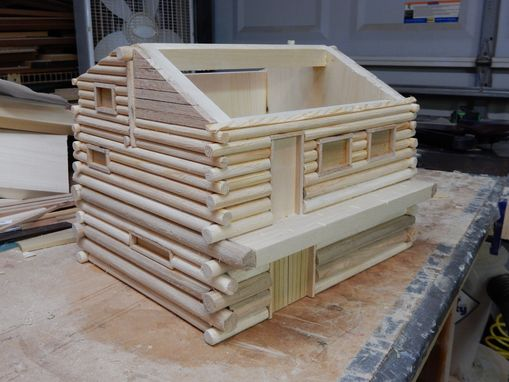 Custom Made Log Home Birdhouse