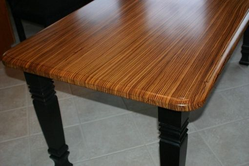 Custom Made Zebrawood Kitchen Table