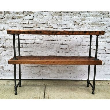 Custom Made Salvaged Wood Console Table