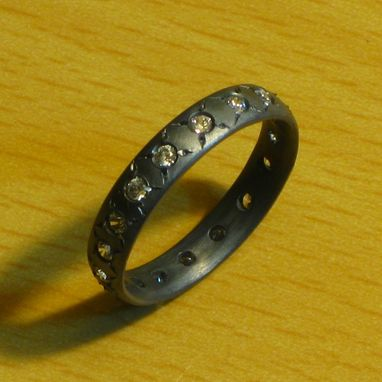 Custom Made I Would Kiss You Girlfriend Ring Sterling Silver And Cz