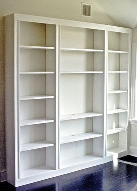 Custom Made Bookcase, With Tv Space