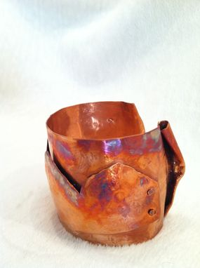 Custom Made Hand Hammered Copper Bracelet