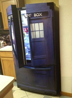 Hand Made Life Size Tardis Wall Decal By Wilson Graphics