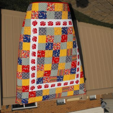 Custom Made Bavarian Rose Bed Quilt