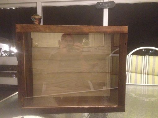 Custom Made Stained Rustic Shadow Box