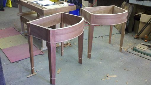 Custom Made Bow Front Sink Vanities