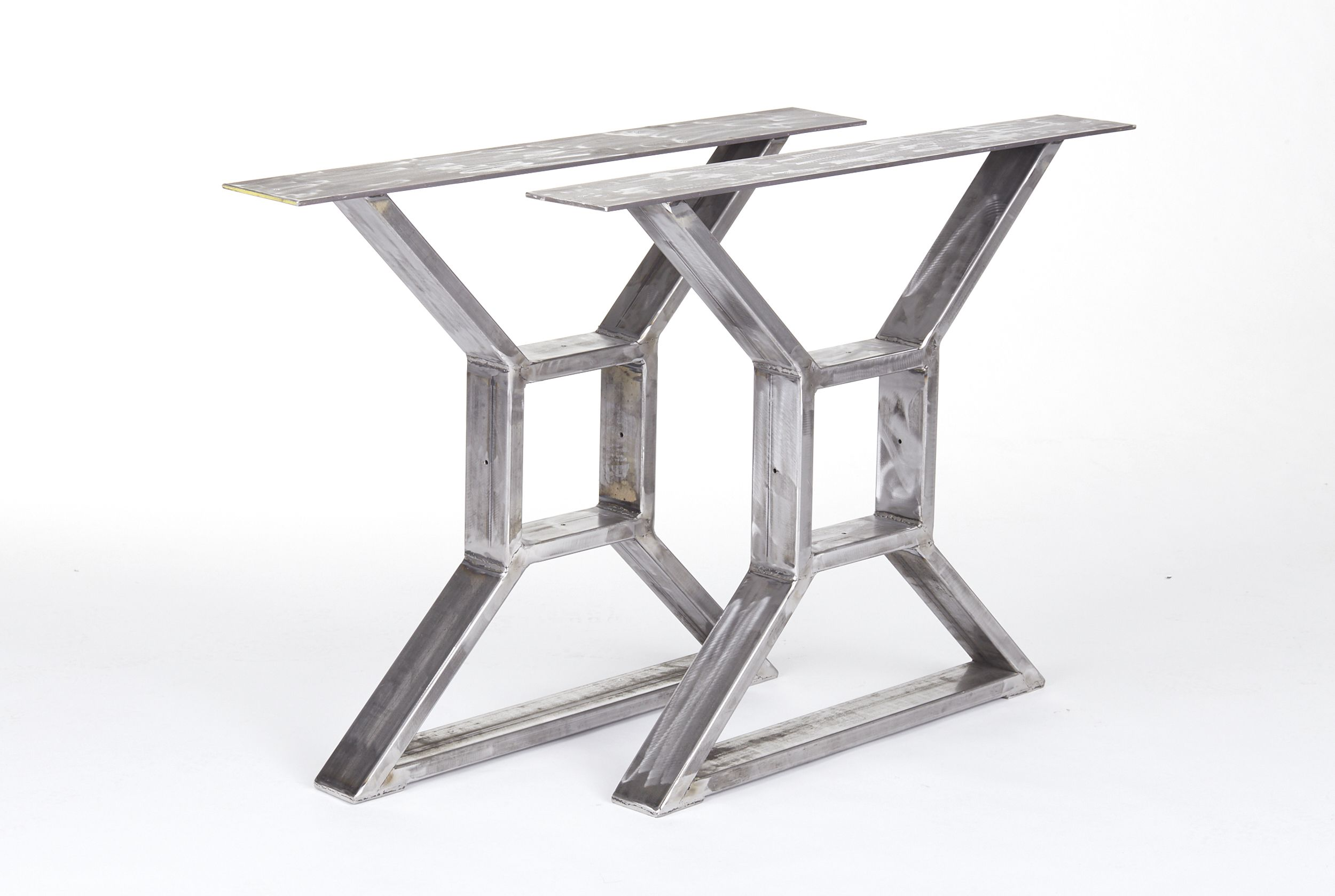 Hand Crafted Industrial Steel X Table Legs By The Urban Reclaimed Co