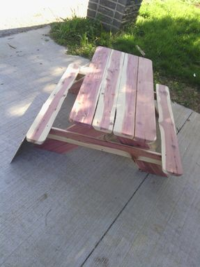 Custom Made Solid Wooden Kiddie Picnic Table