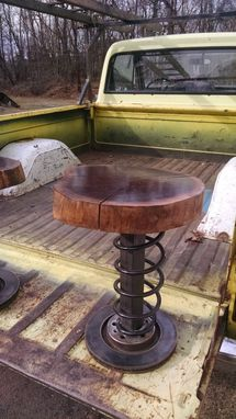 Hand Crafted Walnut And Vw Car Part Stools By Tim Sway