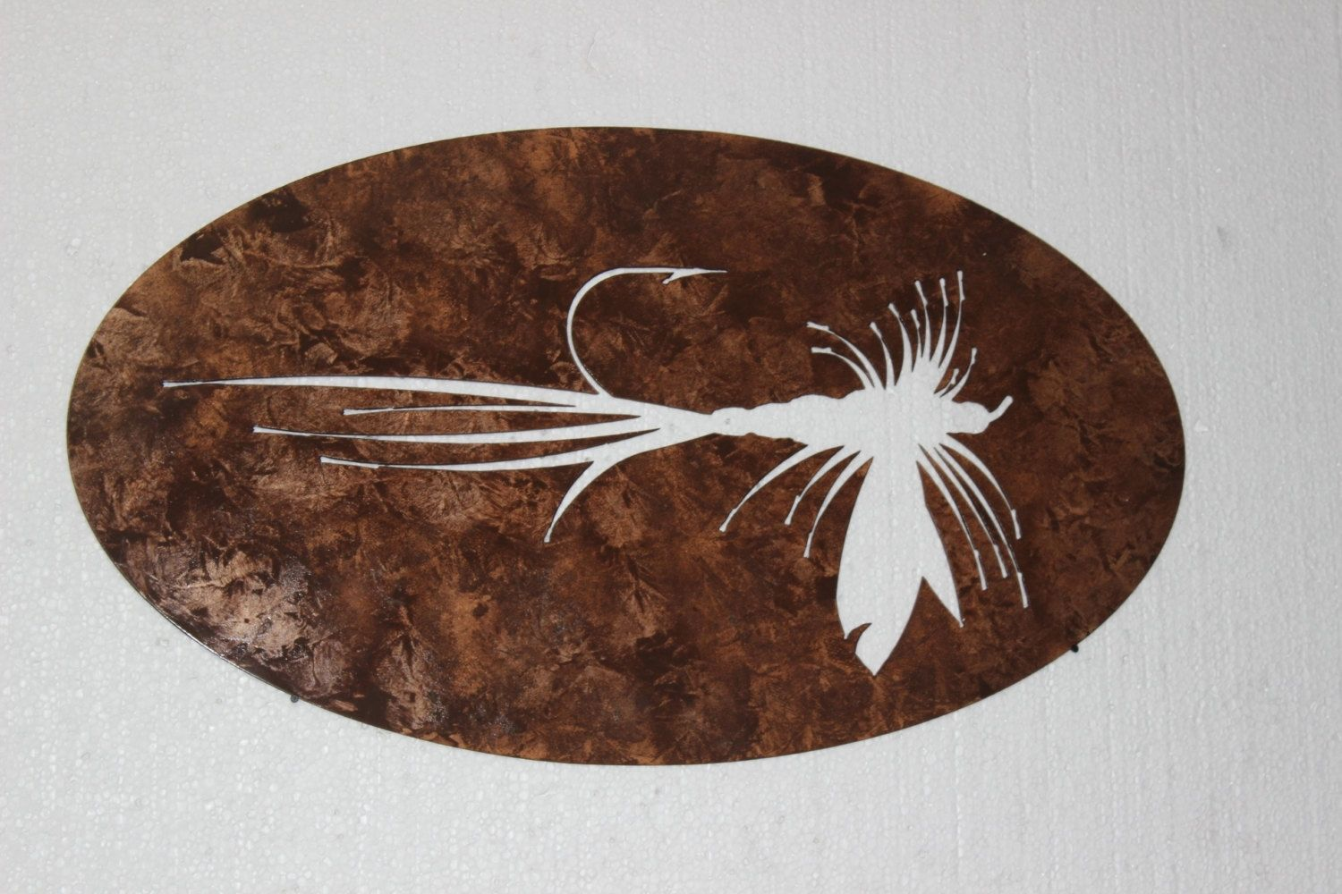 Hand Made Fly Fishing Bait Metal Wall Sign Home Decor By Say It All On The Wall Custommade Com