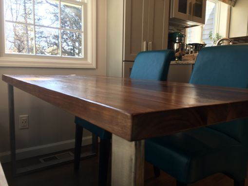 Custom Made Modern Walnut Table
