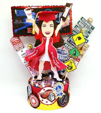 Custom Made Graduation Birthday Cake Topper For Women