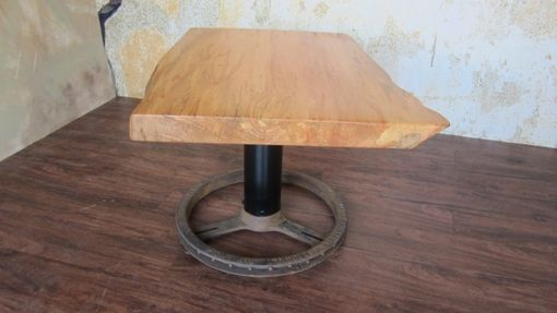 Custom Made Large Maple Side Table