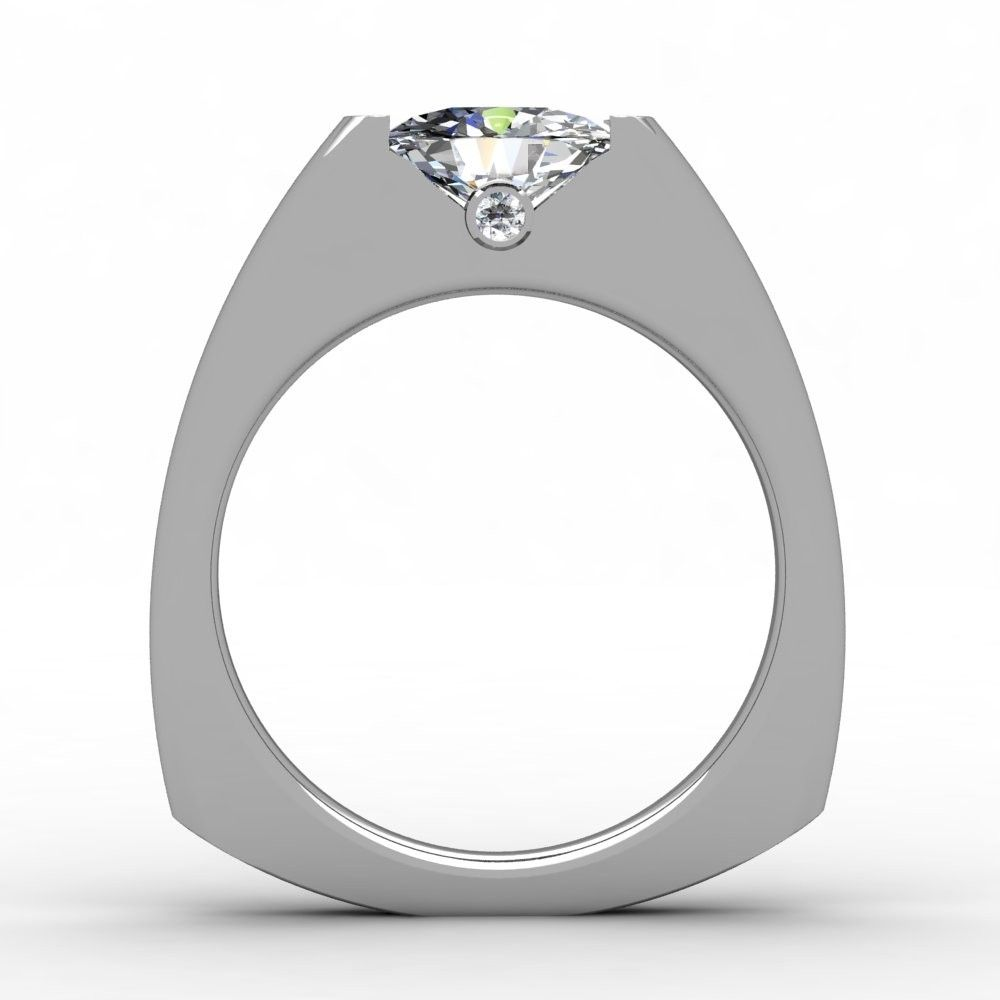 Handmade Tension Set Diamond Engagement Ring By Paul Michael Design