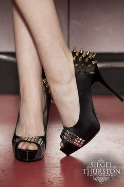 Custom Made Punk Rock Princess Spiked And Studded Pumps