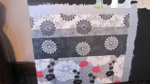 Handmade Peace And Love Wall Art Napkins Decoupage On Canvas 20 Inch ...