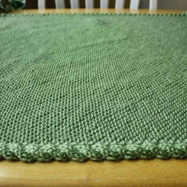 Custom Made Knit Baby Blanket Pattern Easy Warm Cable Border By