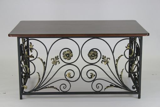 Custom Made Wrought Iron Custom Desk Base