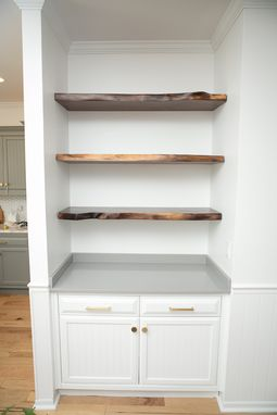 Custom Made Custom Live Edge Walnut Float Shelves