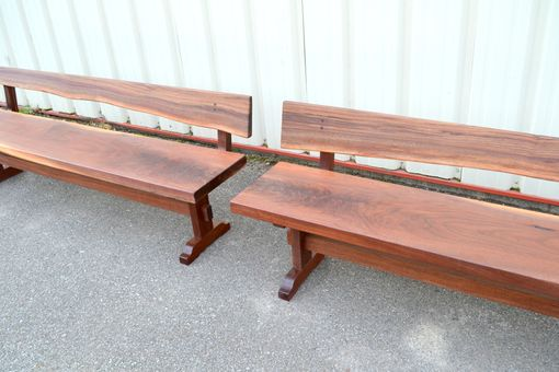 Custom Made Walnut Benches With Backs