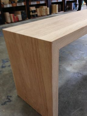 Custom Made White Oak Waterfall Bench