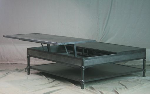 Buy A Custom Industrial Lift Top Coffee Table Vintage Steel Double - Double lift top cocktail table