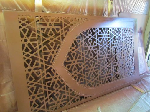 Custom Made Prayer Room Decorative Wall Panels And Lighted Pillar