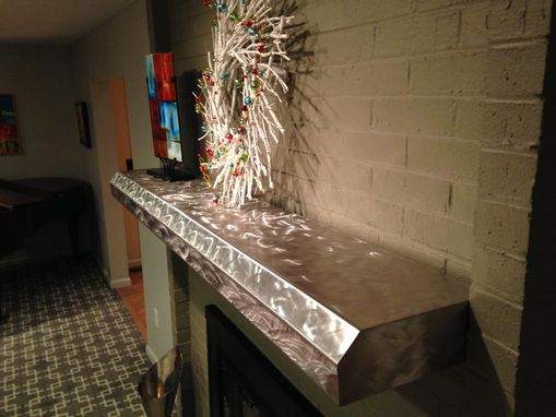 Custom Made Stainless Fireplace Mantels And Floating Shelves