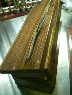 Custom Made Walnut Box With Zebrawood Inlay