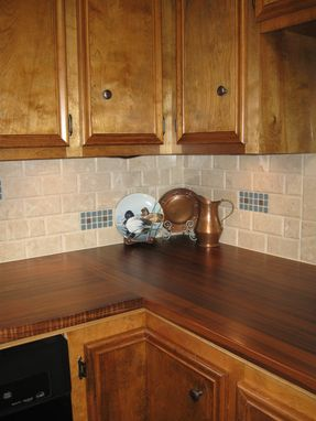 Custom Made Walnut Kitchen Countertops