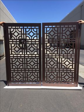 Custom Made Modern Gate Dual Entry Iron Steel Garden Walk Thru Pedestrian ,Urban Gate