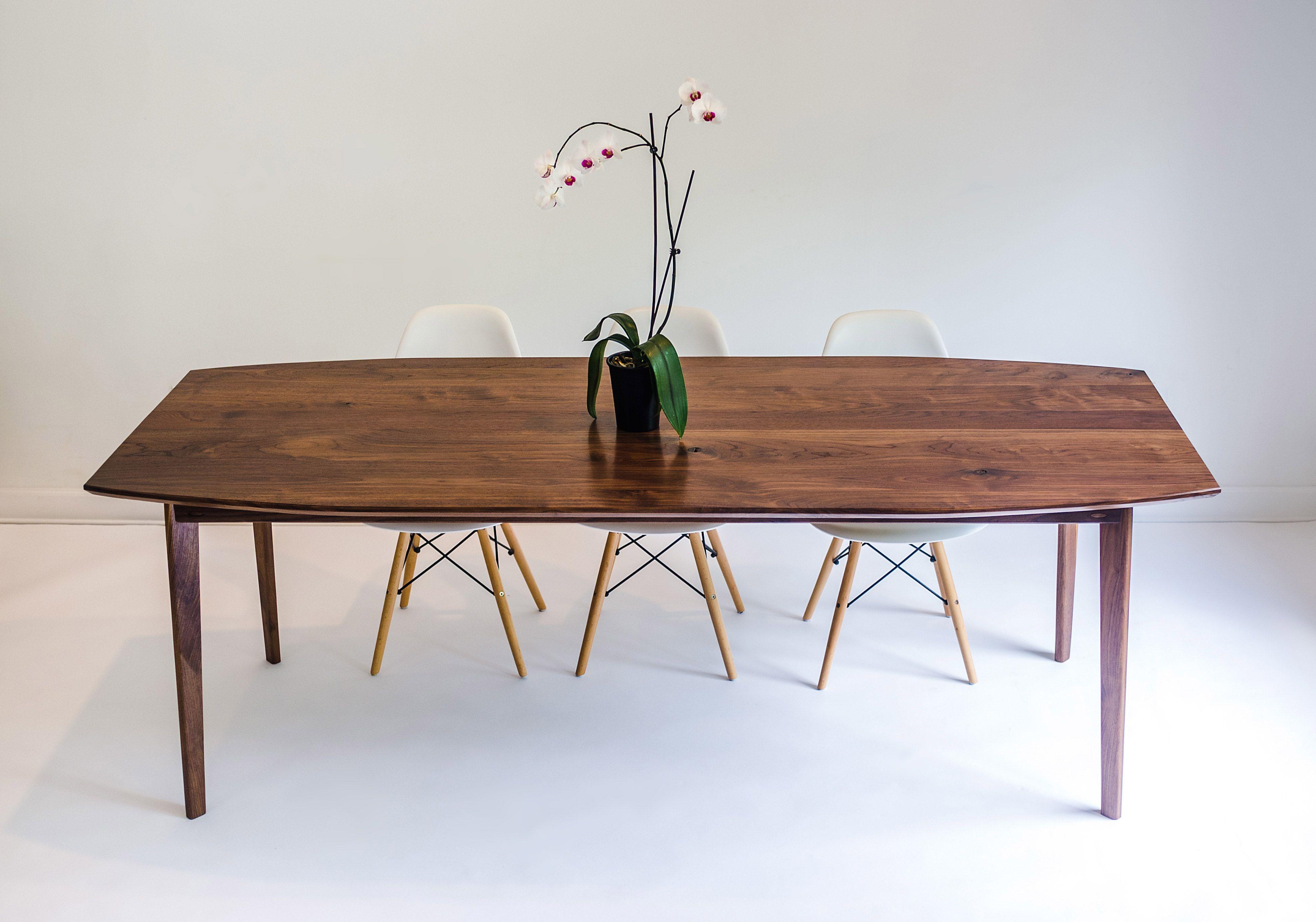 Buy a Custom The Santa Monica Solid Black Walnut Dining Table