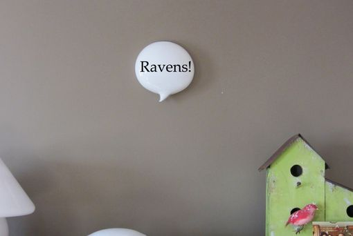 Custom Made Ravens Superbowl Glass Wall Word Balloon